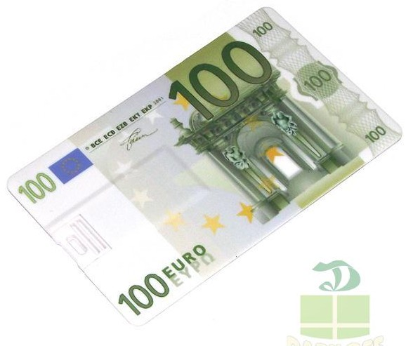 Флешка кредитка 100 EURO 8 Gb