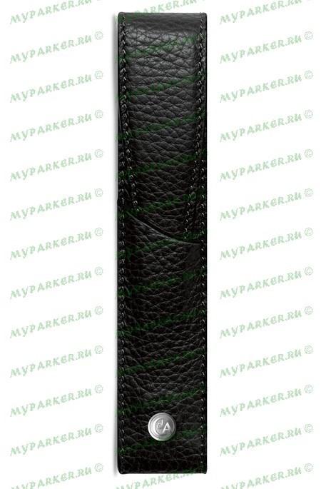 Кожаный футляр для одной ручки Caran d`Ache Leman Black