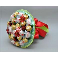 Букет из конфет Новогодний огонек
