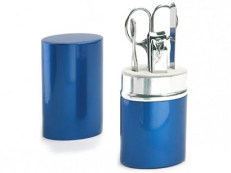 Маникюрный набор Агата в синем алюминиевом тубусе