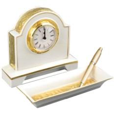 Настольный набор: часы и офисный органайзер Rudolf Kampf