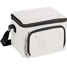 Сумка-холодильник на 3 л с отделением на молнии, белая