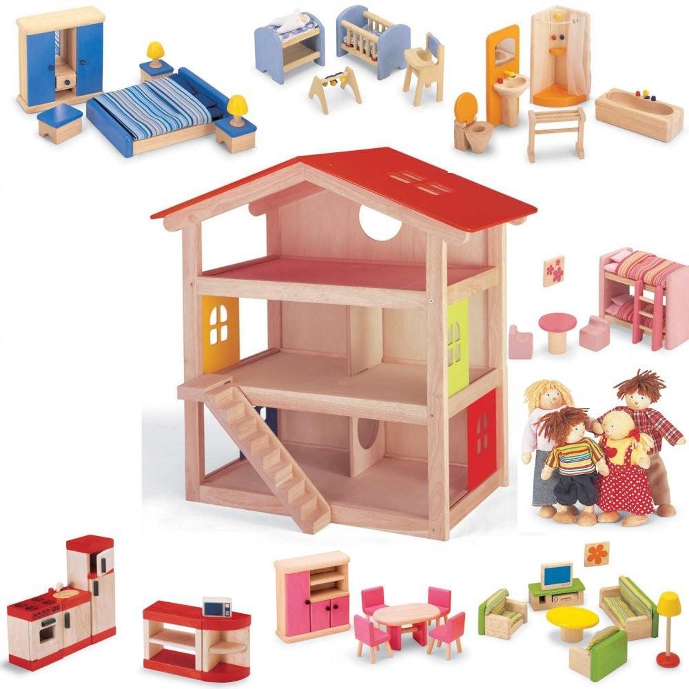 Набор Игрушечный дом с мебелью