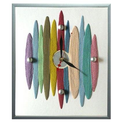 Часы настенные из песка