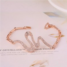 Браслетм «Змейка» с австрийскими кристаллами