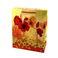 Пакет для подарка Красные цветы