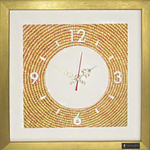 Настенные часы из песка Золото