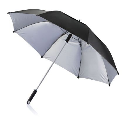 Чёрный зонт-трость антишторм Hurricane 27
