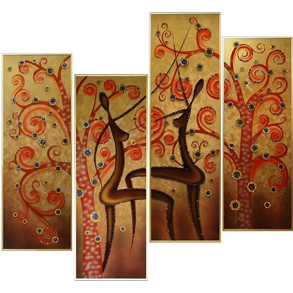Картина с кристаллами Swarovski Танец солнца