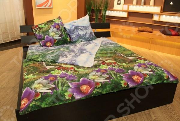 Комплект постельного белья Альпийский луг. Евро