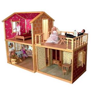 3-х комнатный деревянный домик для Barbie
