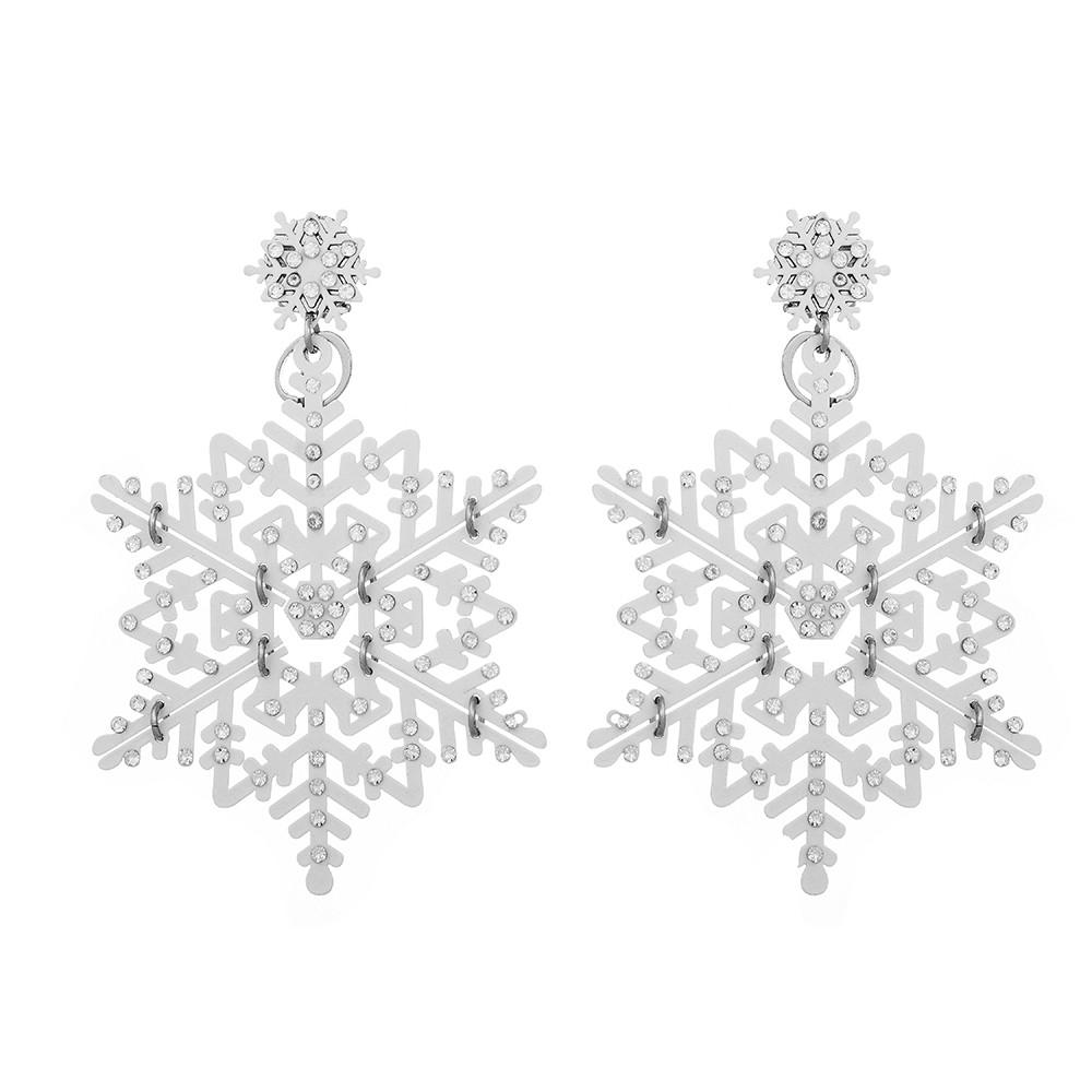 Серебряные серьги Dea с белой эмалью и цирконами