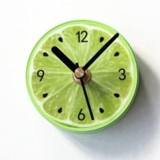 Магнитные часы на холодильник Лайм