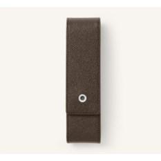 Коричневый футляр для двух ручек Graf von Faber-Castell