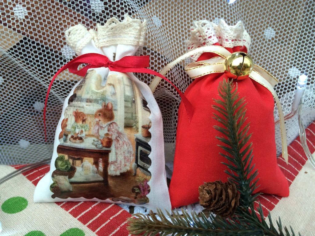 Рождественский набор саше Мышки на кухне