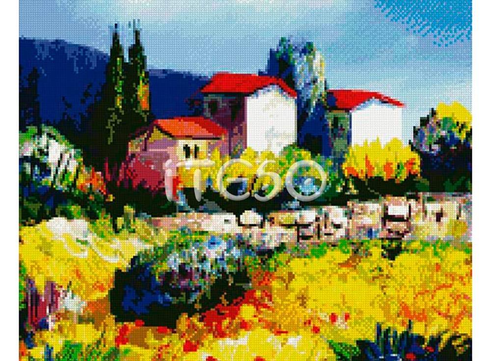 Набор для вышивки стразами «Цветочные поля»