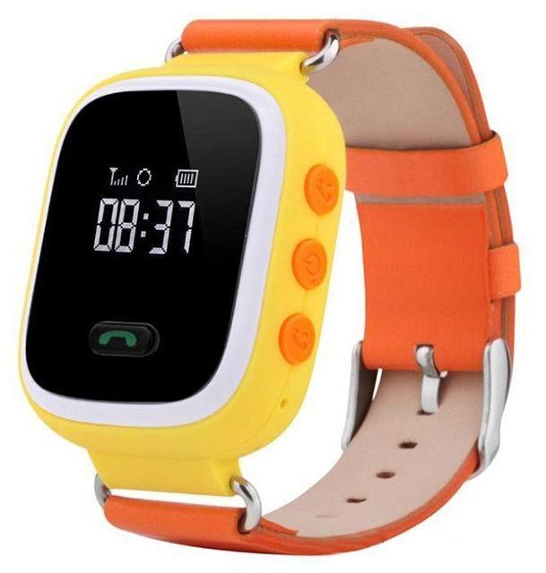 Оранжевые детские часы Smart Baby Watch Q60