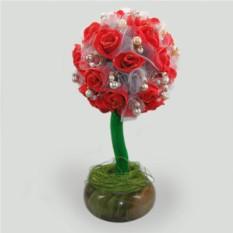 Дерево-топиарий из жемчуга Любовное