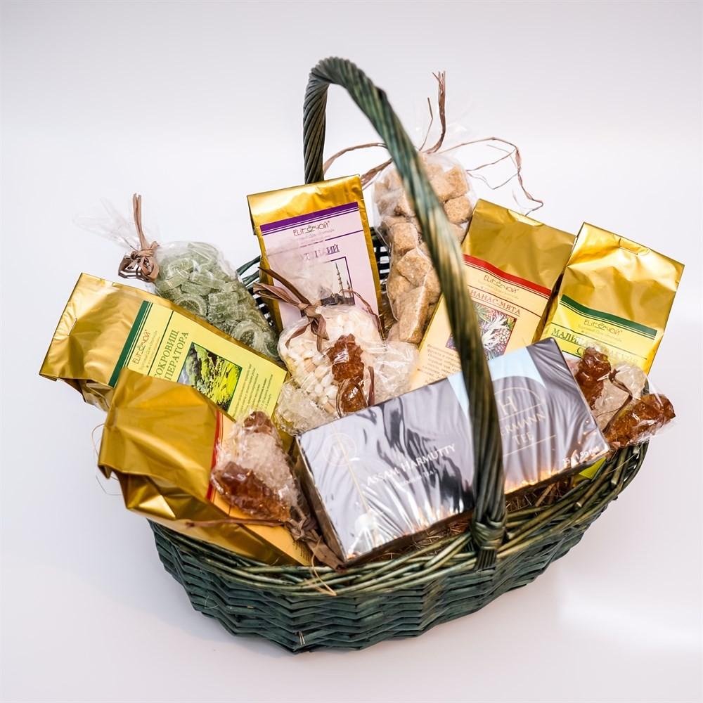 Чайный набор «Новогодняя корзина» №2