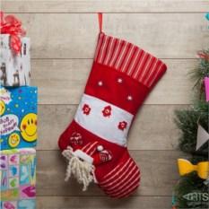 Рождественский носок Много подарков (красный)