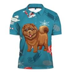 Мужская рубашка поло 3D Год собаки