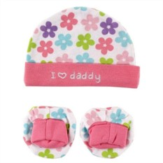 Комплект из шапочки и пинеток I love Daddy