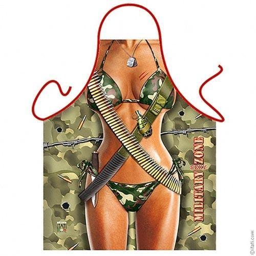 Фартук прикольный Military sexy zone женский