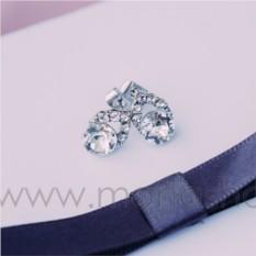 Серьги с белым кристаллом Сваровски «Фея»