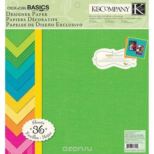 Набор бумаги для скрапбукинга Основные, 36 листов