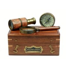 Подарочный набор в деревянном футляре