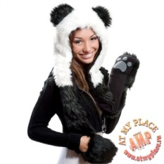 Шапка Пушистая панда