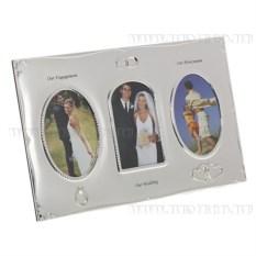 Свадебная фоторамка для 3-х фото