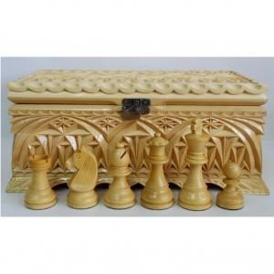 Шахматные фигуры в ларце Палисандр подарочный