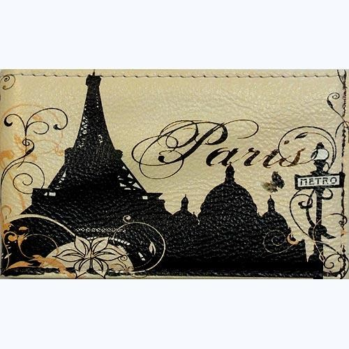 Визитница кожаная Paris