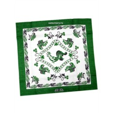 Зеленая салфетка Петух
