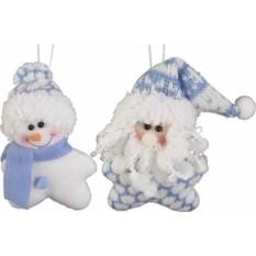 Мягкие игрушки Дед Мороз и Снеговик