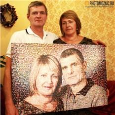 Фотомозаика в подарок родителям на годовщину свадьбы