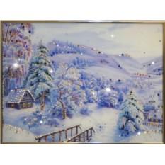 Картина с кристаллами Сваровски Зима