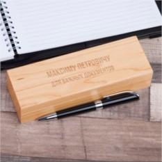 """Ручка в деревянном футляре с гравировкой """"Классика жанра"""""""