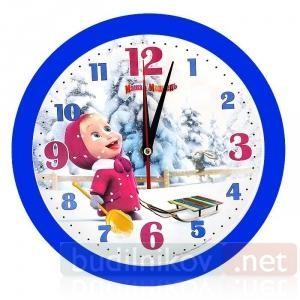 Детские настенные часы Маша и Медведь. Вкусные снежинки