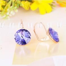Серьги с фиолетовыми кристаллами Сваровски Чародейка