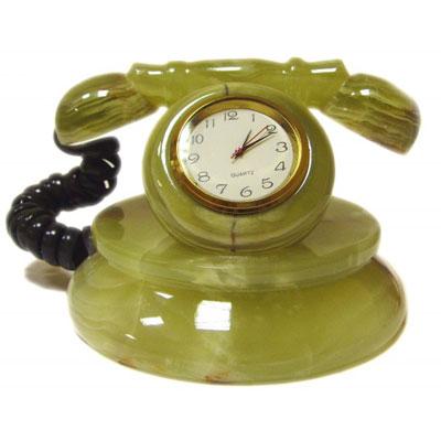 Телефон из оникса с часами