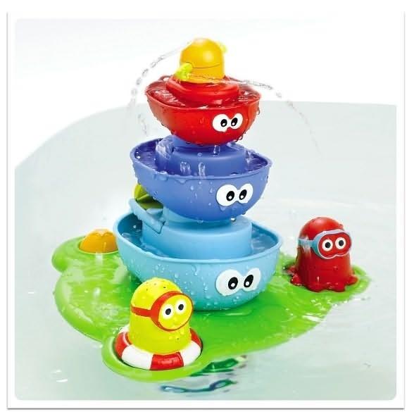 Развивающая игрушка для ванны Пирамидка Фонтан