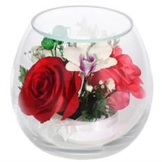 Композиция из орхидеи и розы