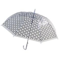 Женский зонт-купол Горошек черного цвета