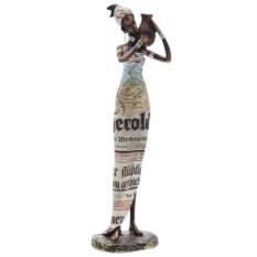 Декоративная статуэтка Африканка с кувшином высотой 34 см