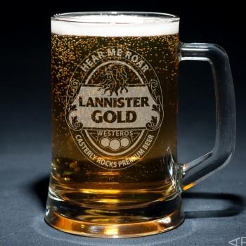 Пивная кружка Lannister Gold с гравировкой