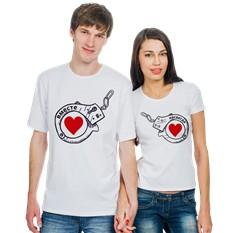 Парные футболки Вместе навсегда, наручники