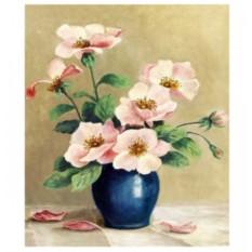 Картина-раскраска по номерам на холсте Анемоны
