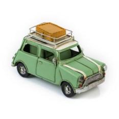 Ретро-модель Зеленый автомобиль с фоторамкой и подставкой